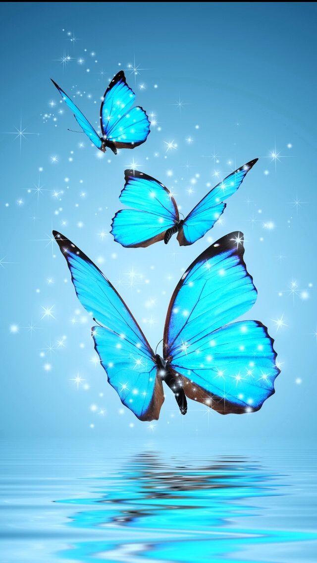 Blue Wonderland Bluewallpaper Bluewallpaperiphone Bluewallpaperaesthetic Sanatsal Resimler Telefon Duvar Kagitlari Kelebekler