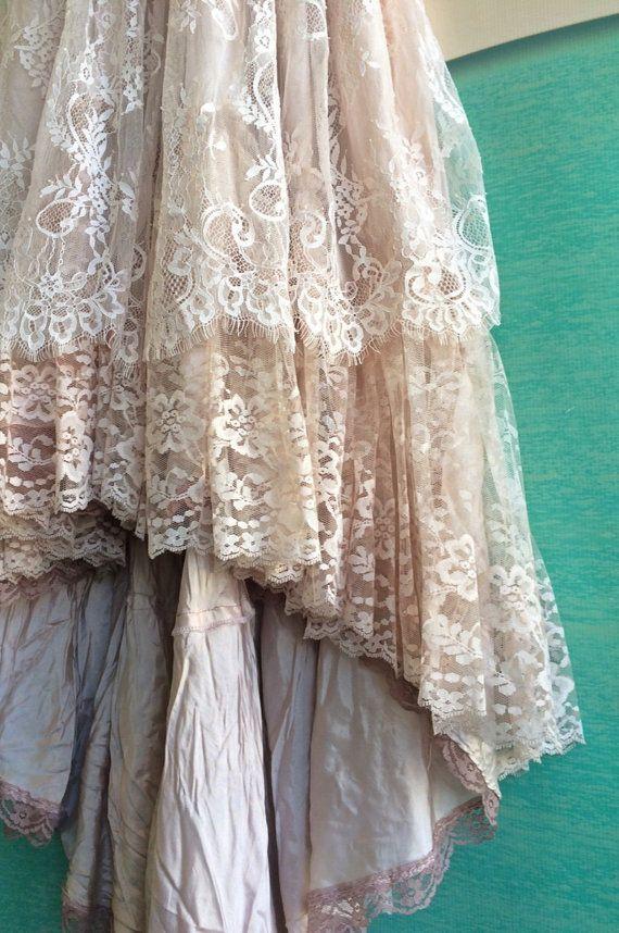blush antique mauve & cream eyelash lace от mermaidmisskristin