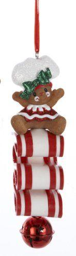 Amazon.com: Gingerbread Kisses Girl Cookie on Ribbon Candy Christmas Jingle Bell Ornament: Home & Kitchen SQUEEEEEEEEEEE!