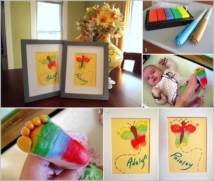Cute Baby Footprint Butterfly Art for You to Try!