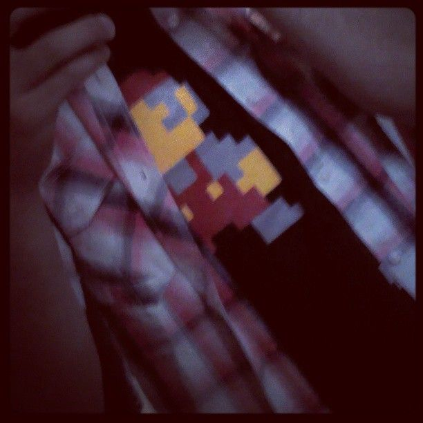 """""""I guess you know who is hidden right there~ #Nintendo #8bit #Mario #Clothes"""" Photo by 8bitboo @ instagram"""