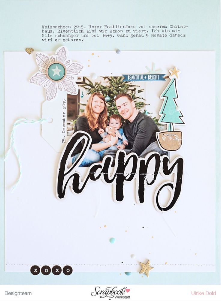 Layout *Happy* - Crate Paper Snow & Cocoa, Gather, Little You - von Ulrike Dold