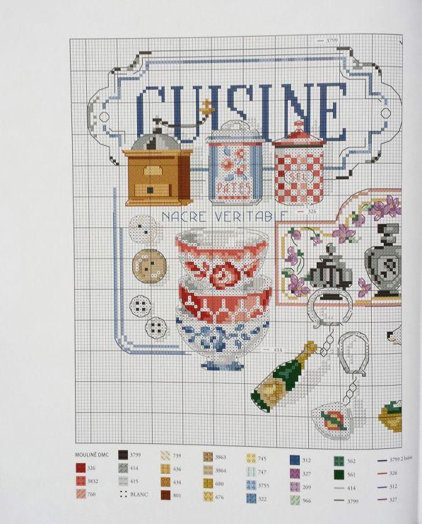 Les 459 meilleures images du tableau cuisine pt de croix - Cuisine et croix roussien ...