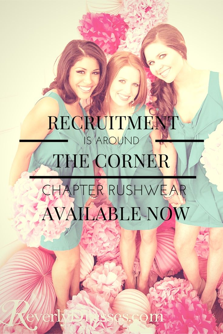 Sorority recruitment is around the corner! Get your chapter outfitted with trendy rushwear!
