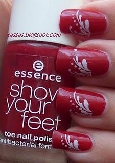 sexy!: White Design, Nails Art, Nailart, Nails Design, Toes Nails, Red Nails, Brushes, Nails Polish, Nail Art