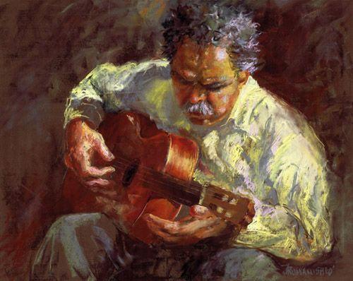 'ALL TIMES MUSIC' - Pastel by Jane Romanishko