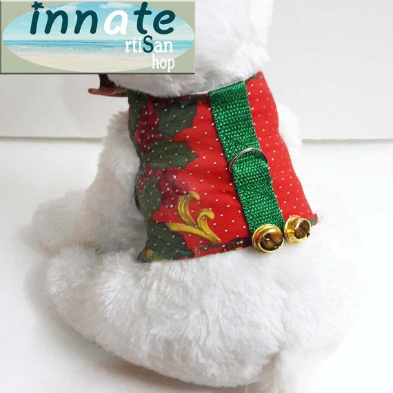 Xmas harness with sleigh bells by InnateArtisanShop on Etsy