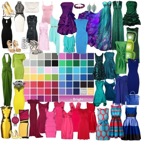 """Bright Winter"" by nyrvelli on Polyvore This color palette suite me well I think"
