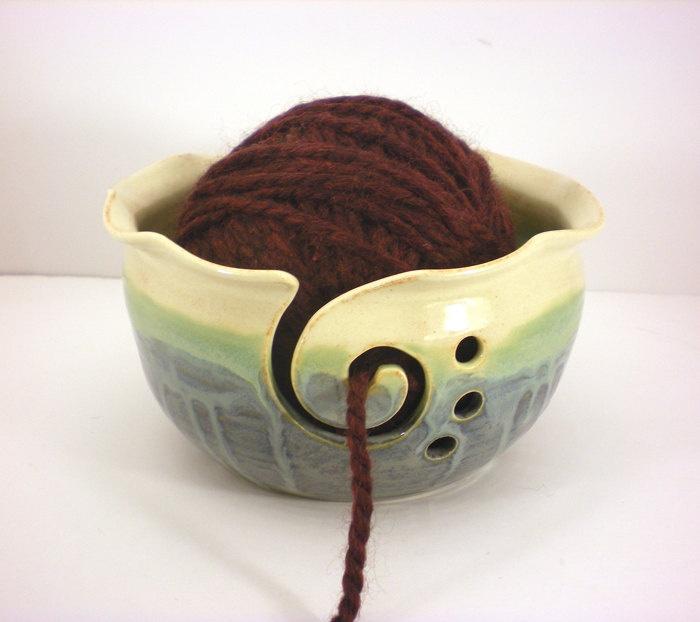 Knitting Wool Holder Hobbycraft : Yarn bowl crochet or knitting helper holder