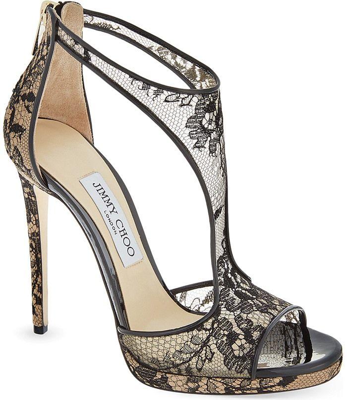 Champagne Silver Glitter Jimmy Choo 'Lana' Twill Sandals | www.ScarlettAvery.com