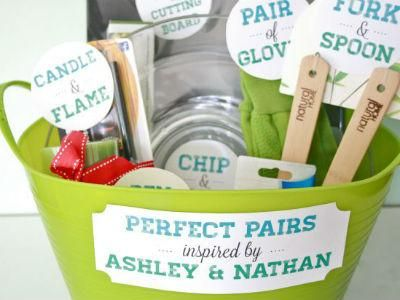 DIY Bridal Basket Perfect Pairs