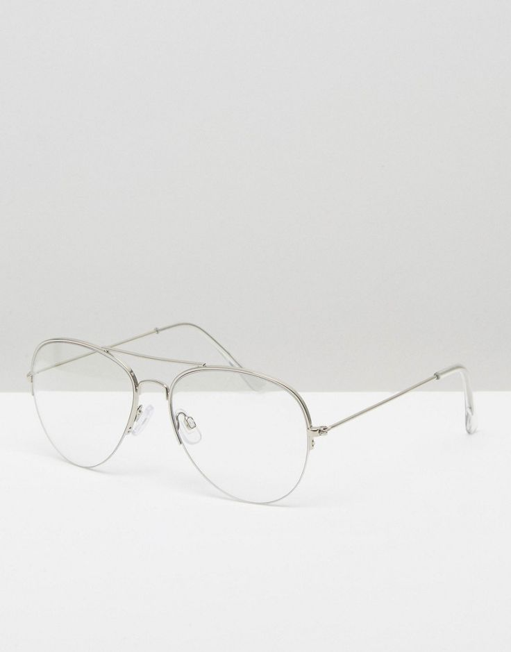 Image 1 ofPieces Clear Lens Aviator Glasses