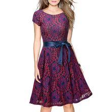 2017 mulheres da moda verão de manga curta dress elegante da festa casual plus size dama de honra vestidos de renda bodycon vestido feminino alishoppbrasil