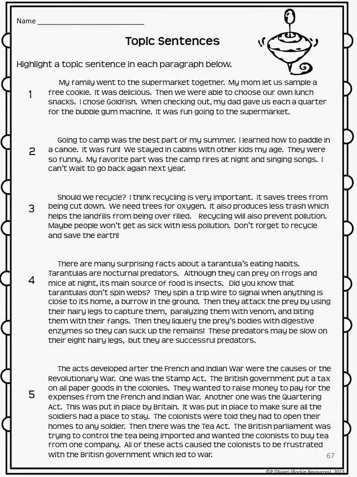 worksheet. Topic Sentence Worksheets. Grass Fedjp Worksheet Study Site