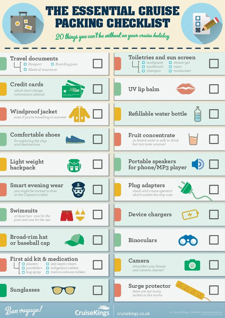 Infographic:+The+Essential+Cruise+Packing+Checklist