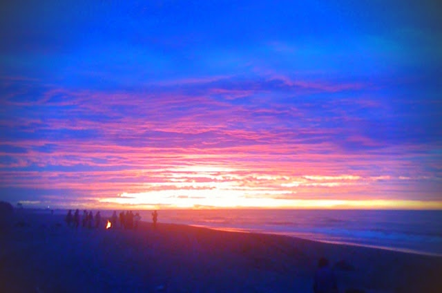 Sunset in Hokitika, West Coast, New Zealand
