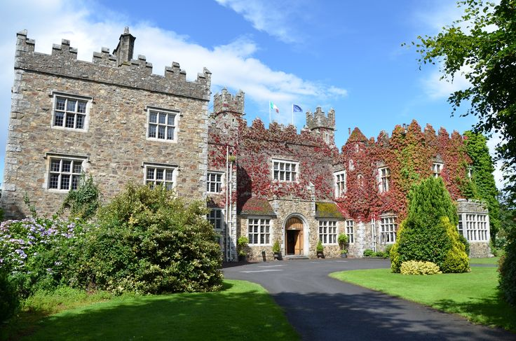 Waterford Castle Hotel Exterior. Home to the great Fitzgerald family, Earls of Kildare & Ormond for hundreds of years, today the Castle is home to a luxury 19-bedroom hotel with authentic and original Castle interiors
