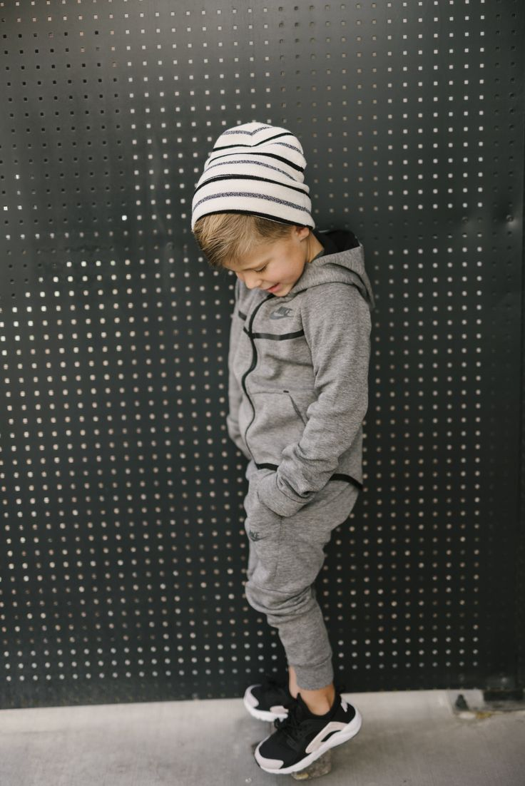 Love this little guy decked out in his Nike gear