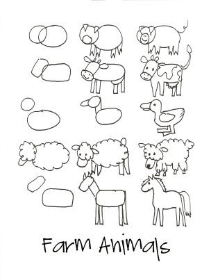 farm drawing lessons...
