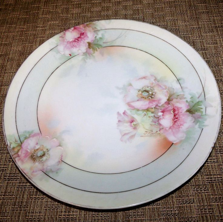 14 best antique china porcelain pottery 100 years old or older german porcelain plate hand painted peach blossoms mismatched china antique pre 1932 prussia beyer bock royal rudolstadt signed hahn fandeluxe Images