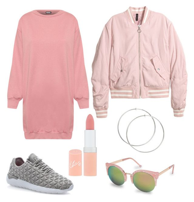 """""""Pinks"""" by stinasolheim on Polyvore featuring WearAll, Asfvlt, H&M and Rimmel"""