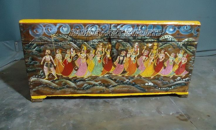 Painted King & Queen Wooden Box
