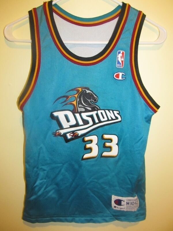 3b3c719c8f8 Grant Hill - Detroit Pistons Home away reversible Jersey - Champion youth  medium  Champion  DetroitPistons