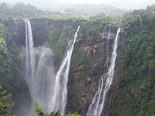 Jog Falls, Karnataka - second highest plunge waterfall in India.