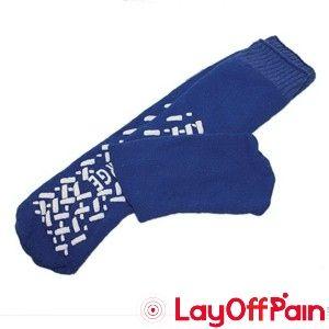 Cardinal Health - 58125-BLU - Single Tread Patient Safety Footwear with Terrycloth Interior, Medium, Blue