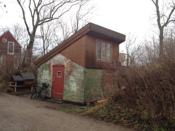 The Tiny Houses of Christiana in Winter