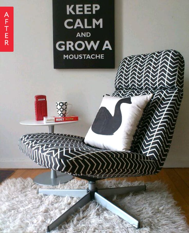 Before & After: A $20 IKEA Chair Gets a Terrific Two-Day Makeover