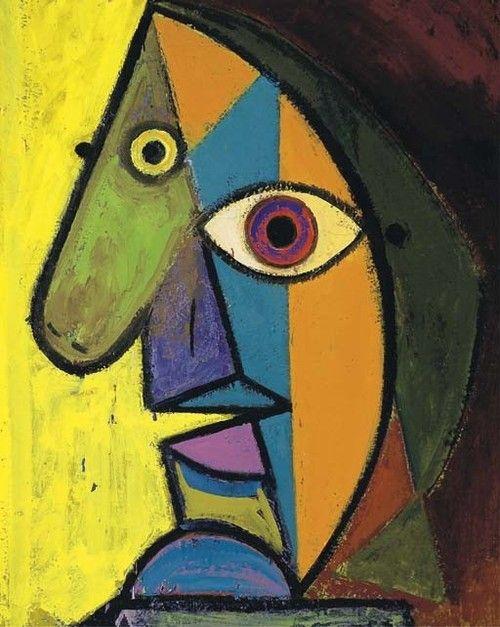 Dora Maar, Portrait de Picasso, daté 'décembre 38' (sur le chassis) huile sur toile