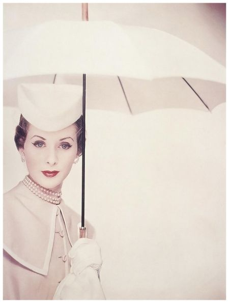 Erwin Blumenfeld 1950 #vintage #vogue #fashion. What class! What happened to fashion? Why is it all so trashy?
