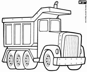 Omalovánka Sklápěcí vozík uvolněn