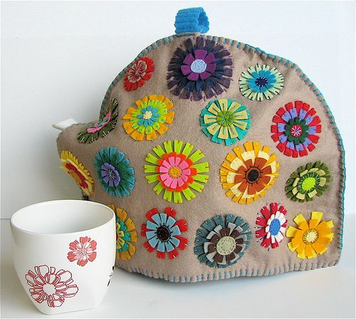 Tea Cozy | made from wool felt and felted wool; my own desig… | Bella Dia | Flickr