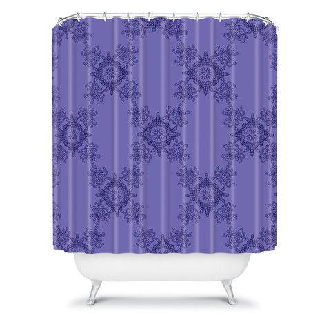 Photo Album Gallery Lara Kulpa Ornamental Purple Shower Curtain
