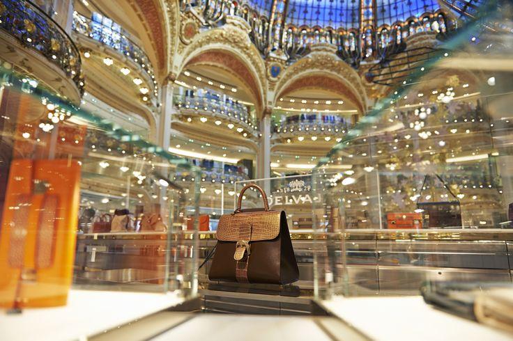 The Delvaux Brillant bag @GALERIES Lafayette in Paris