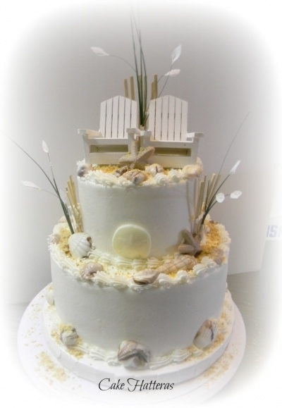 Fall Beach Wedding Cake By Tokazodo On CakeCentral