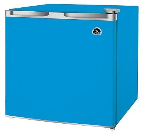 Mini Fridge Blue Compact Refrigerator Freezer Dorm Office Small Beverage Cooler