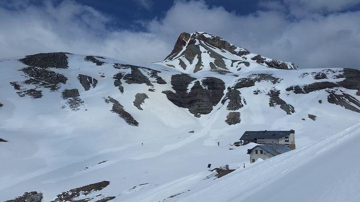 Puezhütte a vrchol Puez