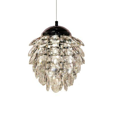 Bethel International 1 Light Crystal Pendant Shade Color Clear