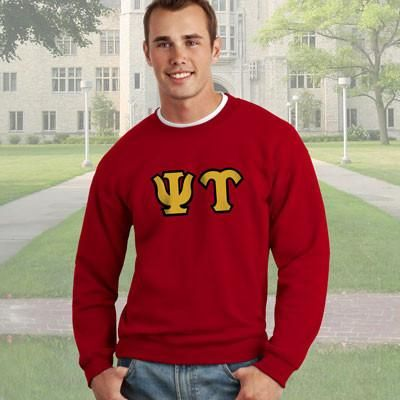Psi Upsilon Crewneck Sweatshirt - Gildan 12000 - TWILL