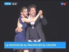 Al Pacino baila en el Teatro Colón