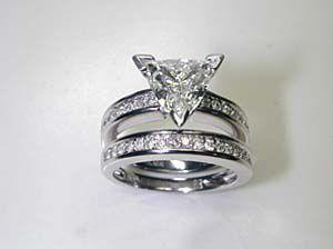 Trillion Diamond Ring | Trillion cut diamond engagement ring,