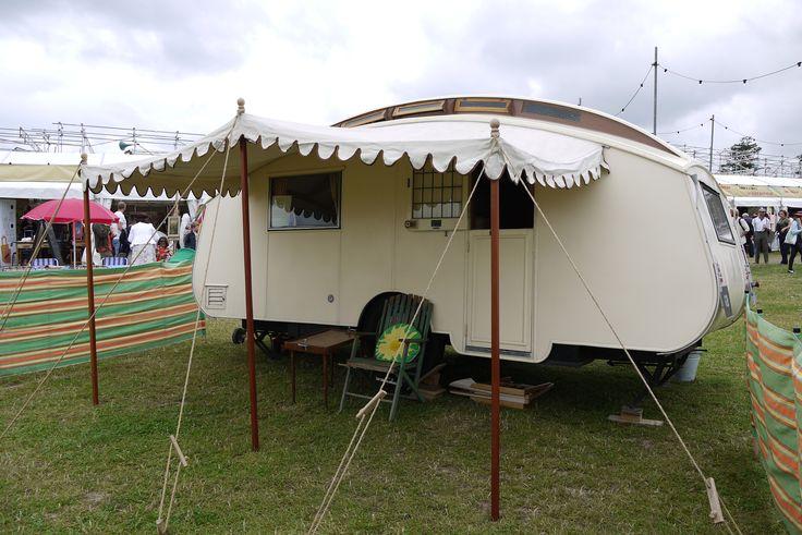 vintage caravan at Vintage at Goodwood