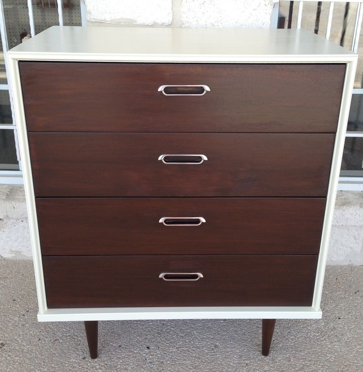 Mid Century Modern Tall Dresser Restyled With General Finishes Salem Stain  At Homestead Handcrafts,