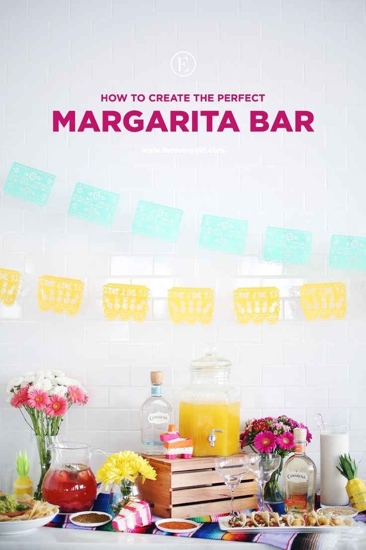 How to Create the Perfect Margarita Bar #theeverygirl