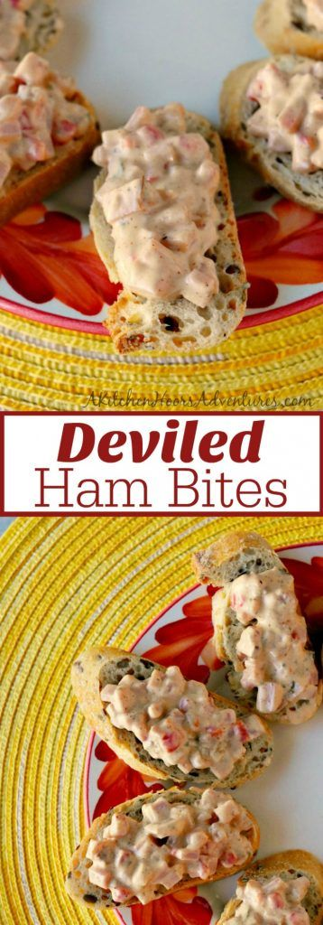 Sneak a few slices of ham before cooking it up to make these delicious nibbles. Deviled Ham Bites are quick and delicious snacks to whip up while waiting for the Easter Dinner. #EasterRecipes