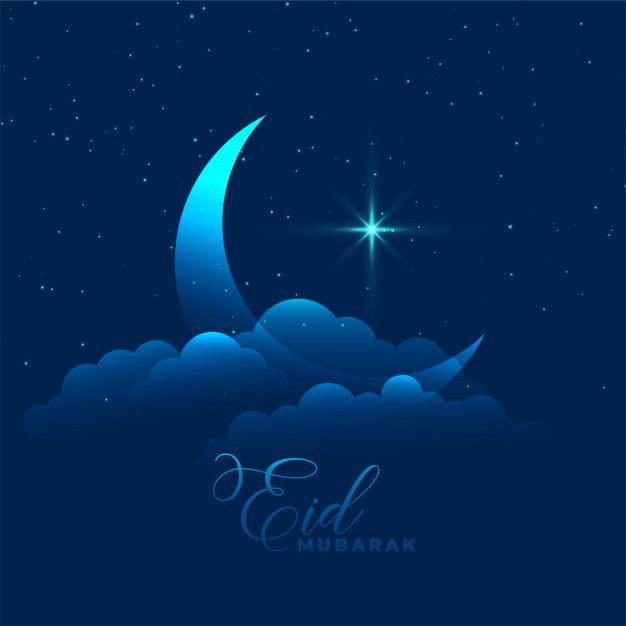 Download Moon With Cloud And Star Eid Mubarak Background For Free Eid Mubarak Background Mini Session Photography Templates Eid Mubarak