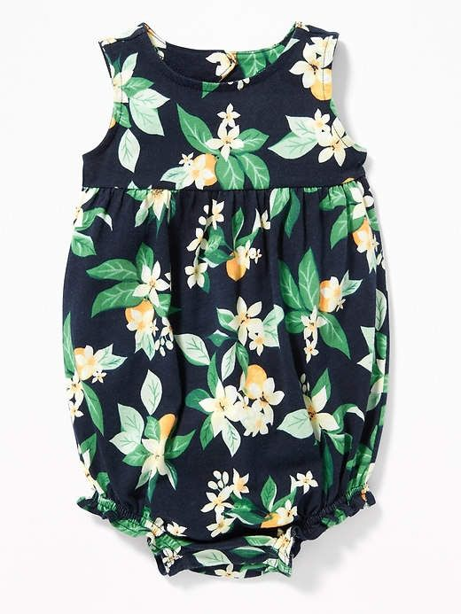 d00102c4f4d Cute citrus print bubble romper for baby girl. Perfect for spring time with  sandals.